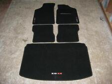 Fußmatten schwarz passend für Peugeot 106 + 106 XSi Logo und Stiefel matt