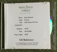 TINA AREA NOTRE DAME DE PARIS PROMO CDR WHITFIELD STREET VARIOUS ARTISTS CD