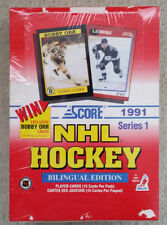 "1991 SCORE SERIES 1 NHL HOCKEY ""BILINGUAL EDITION"" 36 PACK TRADING CARD BOX!"
