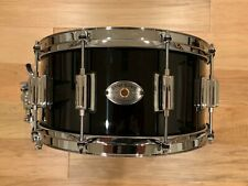 Rogers 6.5x14 Dyna-Sonic Maple Snare Drum in Piano Black Lacquer