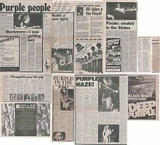 DEEP PURPLE : CUTTINGS COLLECTION -interviews adverts- 70s/80s