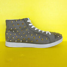 Womens High Top Spikes Sneakers 10 Urban Street Shoes Spike Studded Goth Rave ✔
