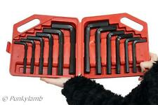 "12pc Jumbo Large Hex Key AF/MM Allen Set Metric 8-19mm SAE 3/8"" 3/4"" Tool New"