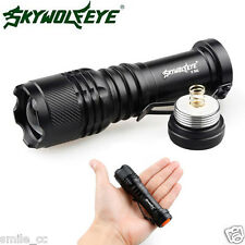 ZOOMABLE 4000LM CREE Q5 LED AA/14500 3 Modes Flashlight Torch Super Bright Light
