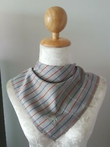 "BurberryUnisex Stripes Patterned Cotton Square Handkerchief 17"""