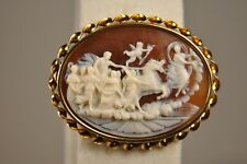BROCHE CAMEE ANCIEN OR MASSIF 18K ANTIQUE CAMEO BROOCH