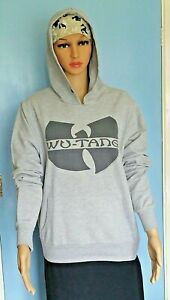 WU-TANG Unisex Adults Hoodie. Grey with Black Logo .Size L. New!