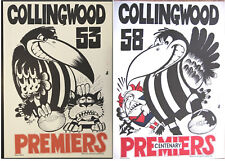 1953 & 1958  Collingwood Magpies Limited Edition Weg Posters Premiership Poster