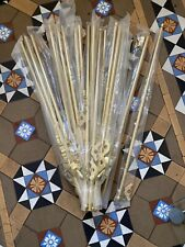 18 REPRODUCTION VICTORIAN STYLE HOLLOW 26 inch long brass stair rods