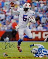 Tyrod Taylor Autographed Buffalo Bills 16x20 Jump Over P.F. Photo- PSA/DNA Auth