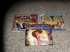 Lot of 3 PC Games: Romeo & Juliet, The Lost Cases of Sherlock Holmes + 1