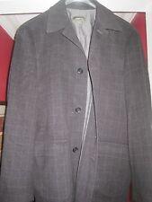 ERMENEGILDO ZEGNA Cashmere Car coat jacket XL 54 44 Black Check