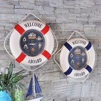 Nautical Style Welcome Decorative Life Buoy Home Marine Beach Wall Decor