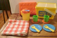 Vintage Fisher Price Fun with Food Picnic Set #2002