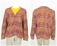 Womens Peruvian Connection 100% Pima Cotton Knit Cardigan Jumper Size XL