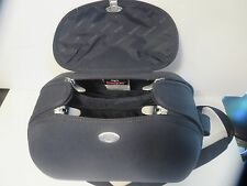 BABY BJORN UNISEX BLACK CLAMSHELL HARD TRAVEL DIAPER BAG REDUCED!