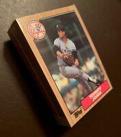 50) TOMMY JOHN New York Yankees 1987 Topps Baseball Card LOT