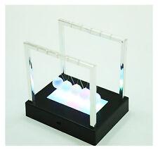 Newton Cardle LED Balance Balls Fashion Desk Physics Science Pendulum Desk Toy