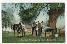 Camp Blacksmiths at work Canadian Military Series 1908 Stedman Bros Postcard