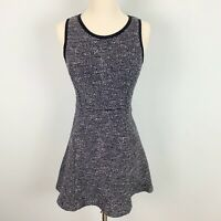 J.Crew Womens Sleeveless Tweed Fit & Flare Black And White Dress, Size 0