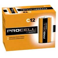 Duracell ProCell Alkaline Battery C Cell 1.5V Disposable -12 Pack *NEW DEAL*