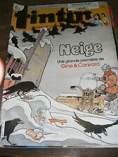 Tintin Hebdomadaire N° 540 41e année 1986 neige aria monsieur edouard dan cooper