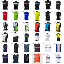Mens Cycling Sleeveless Jersey Vest Team Racing Tops Breathable Biking Shirt B60