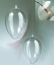 Acrylei teilbar transparent mit Öse und Loch f. Beleuchtung 100 - 160 mm wählbar