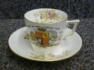 Queen Victoria Diamond Jubilee 1897 Foley China Cup & Saucer