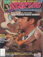 "Starlog Issue 133 Roger Rabbit Willow Next Gen Beauty & Beast Short Circuit  ""V"""