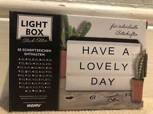 Nanu Light Box Sign with Letters & Symbols
