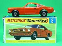 Matchbox Lesney No.8e Ford Mustang In Type 'G2' With 'New' Box