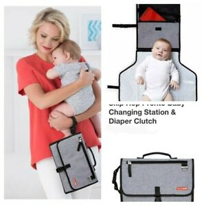 Skip*Hop Compact Travel Diaper Changing Station Clutch. EZ to use & pack way.