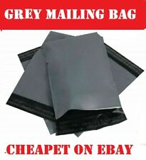 "100  gray 6"" x 9"" Mailing Bags Strong Parcel Postage Plastic Post Poly Self Seal"
