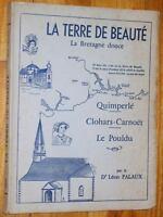 Léon Palaux LA TERRE DE BEAUTE 1956 Quimperlé Clohars-Carnoët Le Pouldu Bretagne