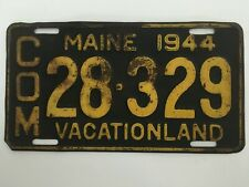1944 Maine Commercial Truck Pickup License Plate All Original