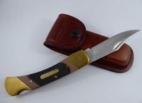 Schrade Cave Bear Lockback Old Timer Folding Knife 7OT & Leather Sheath, Hunting