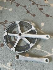 Vintage Custom Centurion Road Crank Set - 52 -46t Chain Rings