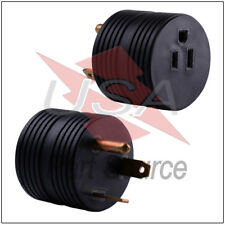 RV Electrical Adapter 30 Amp TT-30P Male to 15 Amp 5-15R Female Round Connector