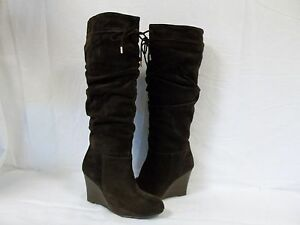International Concepts Sz 8 M Maia Dark Brown Leather Knee High Boots New Womens