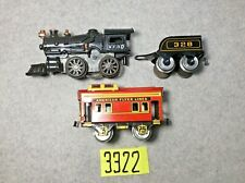 American Flyer Wind Up Loco #10 w/ #328 Tender and #536 ? Caboose