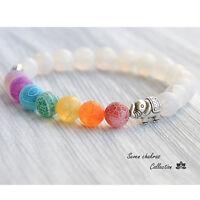 Reiki Yoga Stone Bracelet With Elephant Charm Spiritual Healing Gemstone Jewelry