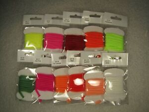 Glow bug, egg yarn, thin type, fly tying material, 11 colors to choose from