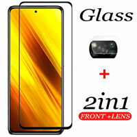 For Xiaomi POCO X3 NFC, Camera Lens Film + 9H Tempered Glass Screen Protector