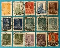 Russia 1920-27 Golden Standart 15 MNG VFU stamps mostly-No WMK Variety R#0421