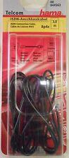 ISDN-Anschlusskabel 3m 8p4c HAMA 44563 zu Telefon PC Computer Modularstecker Neu