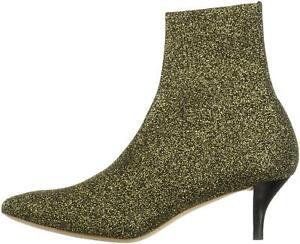 Loeffler Randall Women's Kassidy-KNT Ankle Boot, Black/Gold, Size 6.0 dCos