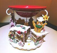 Yankee Candle Gingerbread Train Tart Warmer Retired ~ Rare