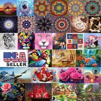 Full Drill DIY 5D Diamond Embroidery Painting Cross Stitch Kit Flower Home Decor