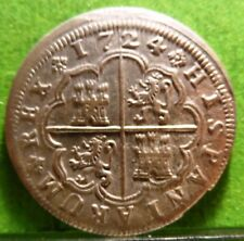 FELIPE V,  2 Reales, 1724, MADRID -A, Aureo & Calico.-1252. Silver,  SPAIN